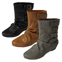 Womens wedge heel boot