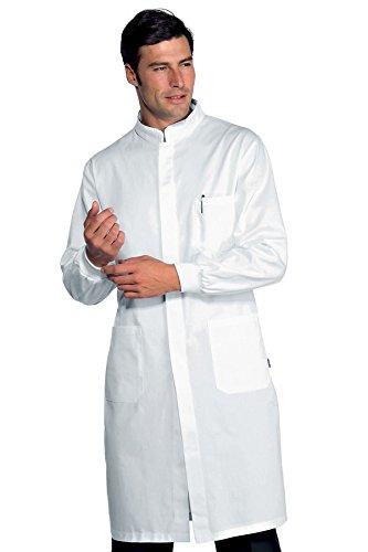Isacco Camice Donna - Isacco Bianco, Bianco, S, 100% Cotone, Mezza Manica, Bottoni con asola