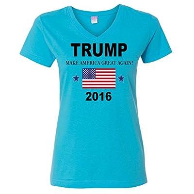Ladies V-Neck: Donald Trump Make America Great T-Shirt