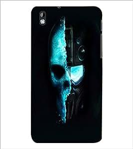 PrintDhaba Skull D-2462 Back Case Cover for HTC DESIRE 816 (Multi-Coloured)