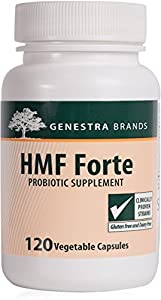 Genestra Brands - HMF Forte - Four Strains of Probiotics to Promote GI Health* - 120 Vegetable Capsules