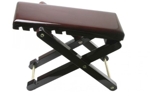 Stagg FOS-A1 Metal Foot Rest for Guitar Players - Mahogany