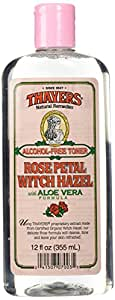 Thayers Alcohol-free Rose Petal Witch Hazel with Aloe Vera ~ 12 oz