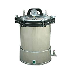 BJ 24L Portable Medical Pressure Steam Stainless Steel Autoclave Sterilizer YX-24LD 110V