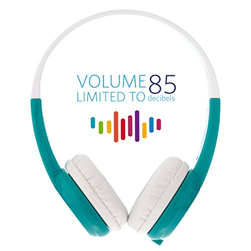 Kids Headphones by onanoff Volume Limiting Lock - Built in Splitter - In Line Mic For iPad, Computer, Tablet, Smartphone