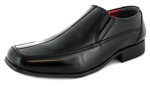 new-mens-gents-black-leather-slip-on-formal-shoes-wider-fitting-black-red-lining-uk-size-12