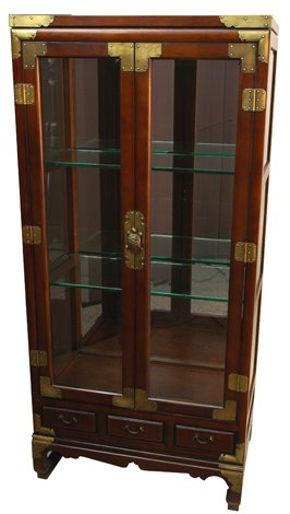 Asian Furniture & Decor - 53 Japanese Glass Display Curio Cabinet