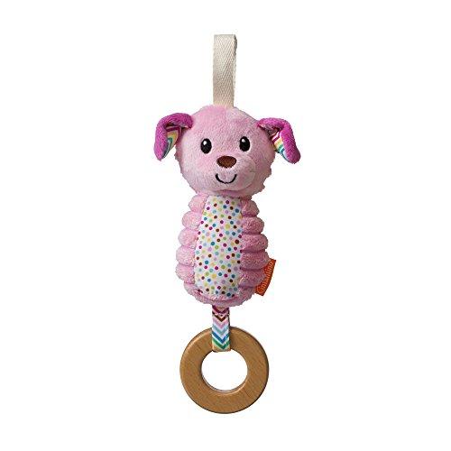 Infantino Pink Dog Chime - Go Gaga! Collection