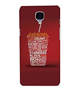 ONE PLUS 3 TEXT SIPPER Back Cover by PRINTSWAG