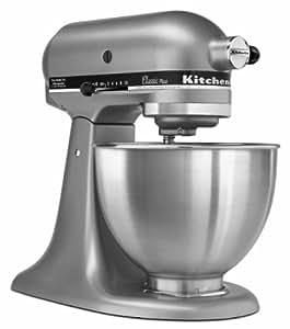 KitchenAid KSM75SL Classic Stand Mixer, Silver