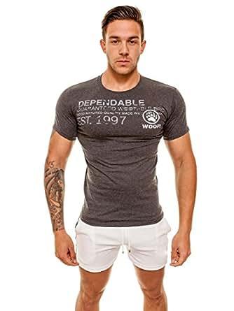 ajaxx63 Dependable Woof T-Shirt, gris, Large
