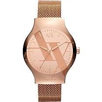 Armani Exchange Rose Dial Rose Gold-tone Ladies Watch AX3140