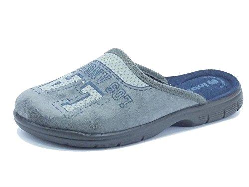 Pantofole InBlu per donna in tessuto grigio fondo soft anatomico (Taglia 38)