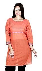 Eessence Women's Cotton Kurta (MCK01_OR_M, Orange, M)