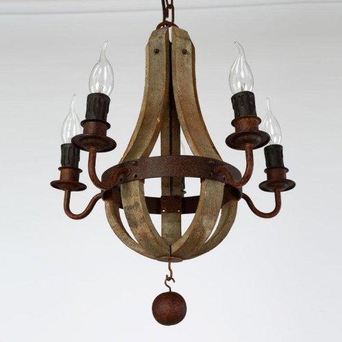 LightInTheBox Vintage Amercian Rustic Wooden Pendant Wine Barrel Chandelier Lamp Liviing and Bedroom Lamp Ceiling Lights 5