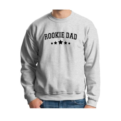 Rookie Dad Crewneck Sweatshirt Small Ash front-888323