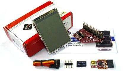 """2.4"""" Lcd Display Starter Pack With 2Gb Sd Card For Raspberry Pi"""