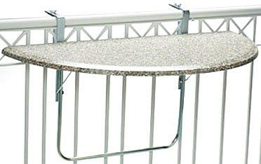 Videx 16302 Balkonklapptisch Terrazo Design 51x102cm halbrund bestellen