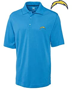 San Diego Chargers Mens Drytec Championship Polo Sea Blue by Cutter & Buck