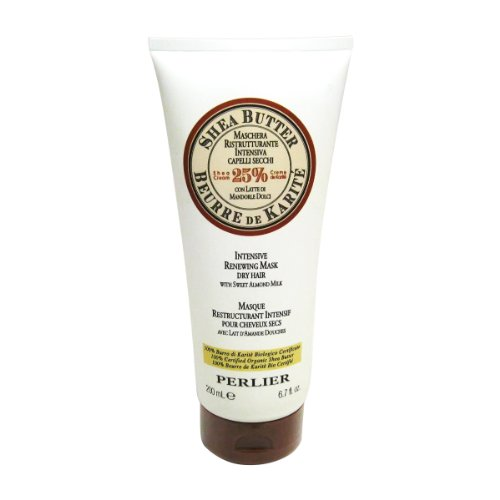 Perlier Shea Butter Intensive Renewing Mask For Dry Hair With Sweet Almond Milk 6.7Oz Women