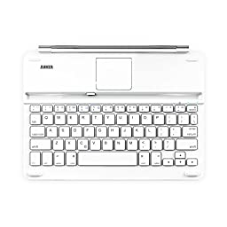 Anker Keyboard Cover for iPad Air 2 / Air Bluetooth Ultra-Slim with 6-Month Battery Life Between Charges and Comfortable Low-Profile Keys (White)