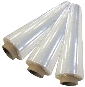 Stretchfolie 3 Rollen 500mmx300m transparent 17my Palettenfolie Strechfolie Plastikfolie Handwickelfolie