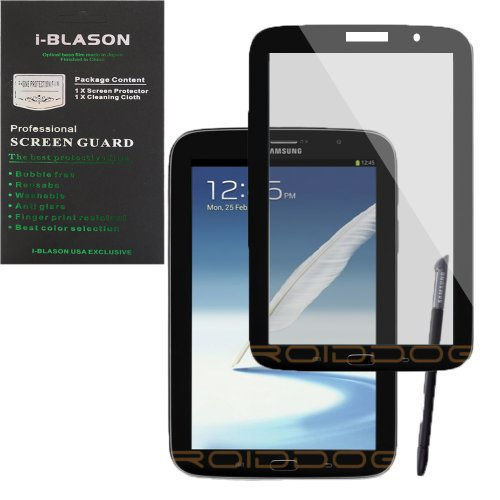 i-Blason Samsung Galaxy Tab 3 10.1 HD Matte Bubble Free Screen Protector Reusable Anti Glare P5220 (Black)
