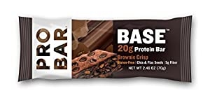 Probar Base Protein Bar, Brownie Crisp, 2.46 Ounce (Pack of 12)
