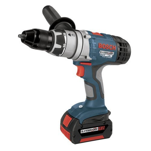 Factory-Reconditioned Bosch 17618-01-RT 18-Volt 1/2-Inch Brute Tough Litheon Hammer Drill/Driver with 2 Fat Batteries (1 2 Hammer Drill Reconditioned compare prices)