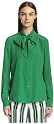 Salvatore Ferragamo Women's Blouse, Green, 42 IT/8 US