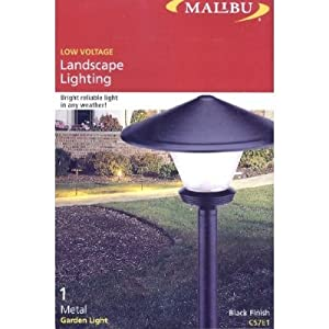 Click to buy Malibu Outdoor Lighting: Low Voltage Garden Light, Black from Amazon!