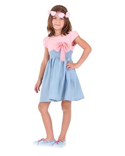 Dolce Liya Kid's Bow Cap Sleeve Dress