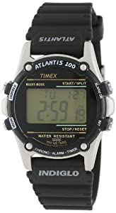Timex Men's T77511 Atlantis 100 Black Resin Strap Watch