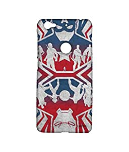 Block Print Company Reflection Captain America Phone Cover for LETV 1S