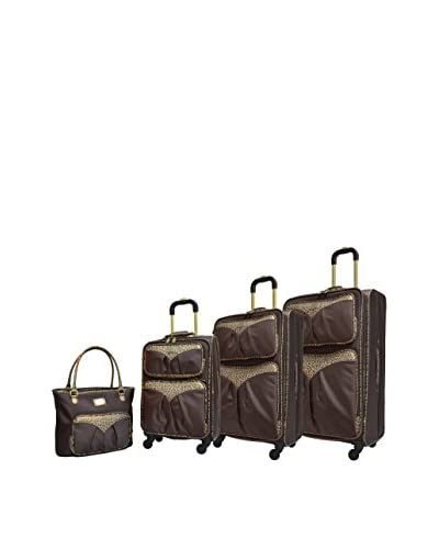 Adrienne Vittadini Denier 4-Piece Luggage Collection, Brown