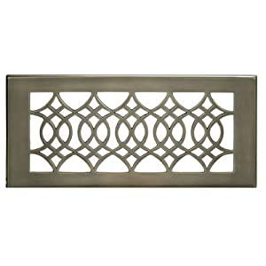 "Registers and Vents 4"" Strathmore Wall Register Finish: Antique Brass, Size: 5.5"" H x 11.5"" W x 2 D"