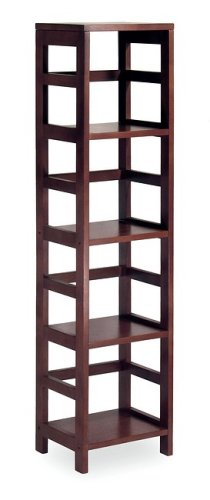 Espresso Narrow 4-Section Bookshelf