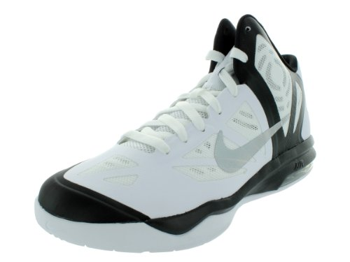 the best attitude 17a7f 21830 Nike Men s NIKE AIR MAX HYPERAGGRESSOR BASKETBALL SHOES 9 5 WHITE METALLIC  SILVER BLACK