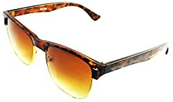 Viaano Oval Sunglasses (Brown, VI-GHF-01)