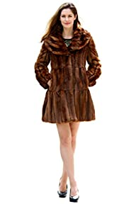 Messca Womens Faux Mink Fur with Lot…