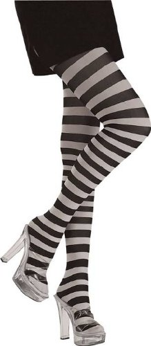 Rubie's Costume Co Black/White Striped Tights Costume