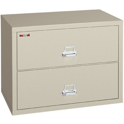 31 W Two Drawer Lateral File Finish Parchment Lock Combination Lock Inexpensive Drawer Vertical File