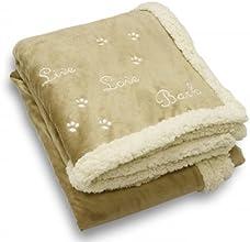 Best Friends By Sheri quotLive Love Barkquot Pet Throw Blanket Wheat 100H x 5000W x 6000D