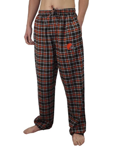 NFL Cleveland Browns Mens Fall / Winter Plaid Pajama Pants XL Multicolor at Amazon.com