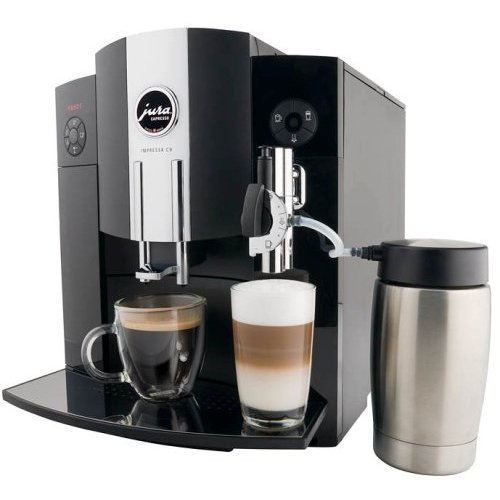 Jura Impressa C9 One Touch 64OZ. Espresso Machine in Piano Black 13422 (Certified Refurbished)