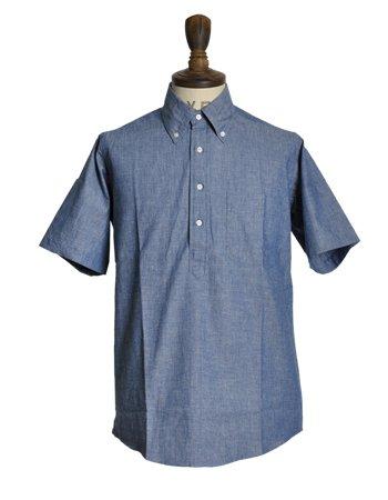 (バギー)THE BAGGY ヘビーオックスフォード/シャンブレーボタンダウンプルオーバー半袖シャツ