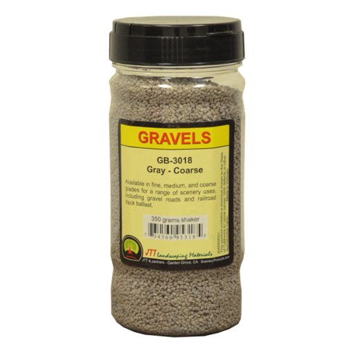 JTT Scenery Products Ballast and Gravel, Gray, Coarse