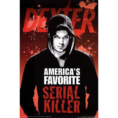(24x36) Dexter America's Favorite Serial Killer Blood TV Poster Print