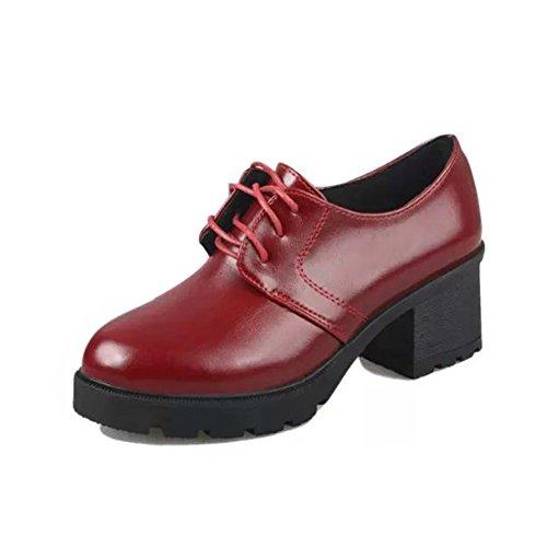 Printemps pointus talons/Rétro wild chunky talons chaussures