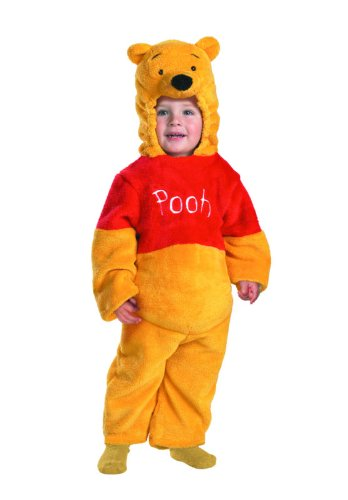 Winnie The Pooh Deluxe 2-Sided Plush Jumpsuit Costume (12-18 Months) front-503602